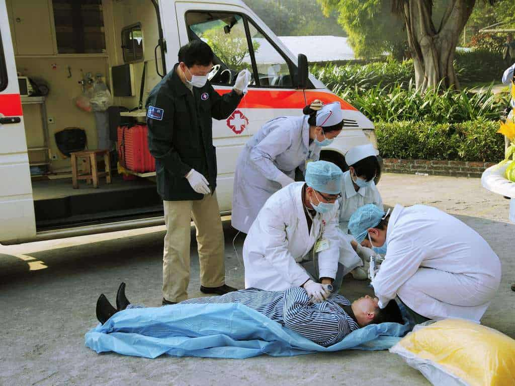 A Picture of medics attending to an emergency